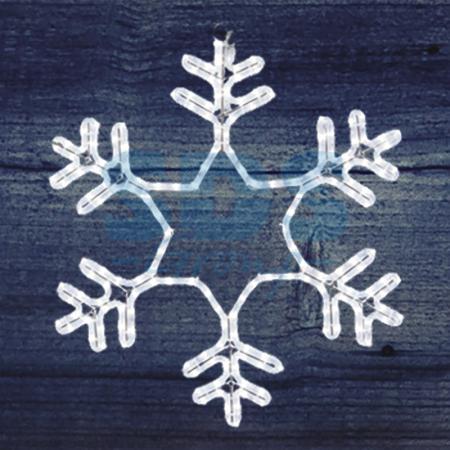 Фигура световая Снежинка цвет белый, без контр. размер 55*55см NEON-NIGHT