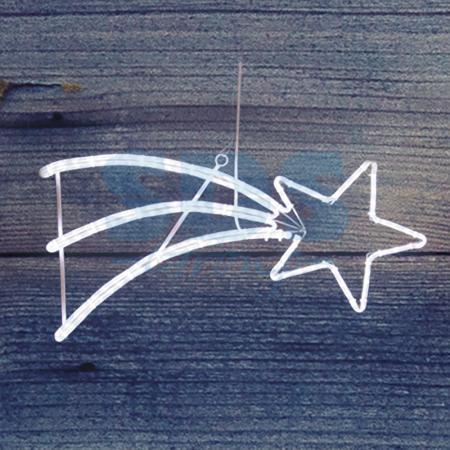 Фигура светодиодная Падающая Звезда цвет белый, 40*80 см NEON-NIGHT фигура светодиодная neon night снеговик высота 10 см
