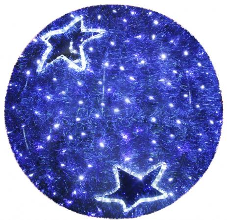 Фигура Шар, LED подсветка диам. 80см, синий NEON-NIGHT светящееся украшение neon night фигура шар 20cm 200 led blue 501 607