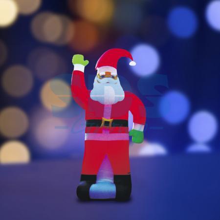 3D фигура надувная Дед Мороз, размер 600 см, компрессор 160 Вт с адаптером 12В, IP44 NEON-NIGHT 3d фигура надувная дед мороз размер 600 см компрессор 160 вт с адаптером 12в ip44 neon night