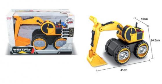 Экскаватор Наша Игрушка Экскаватор с ковшом черно-оранжевый игрушка hti экскаватор 1416226 00