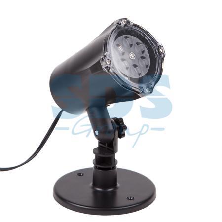 LED проектор, белые снежинки, 220В проектор led pc