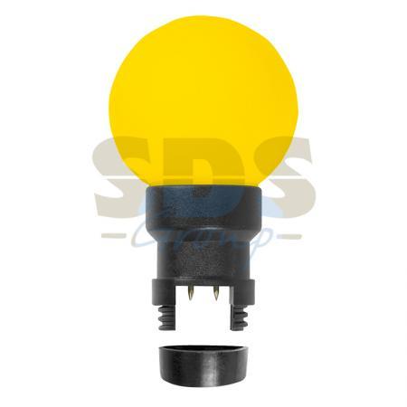 Лампа шар 6 LED для белт-лайта, цвет: Жёлтый, O45мм, жёлтая колба жёлтый цвет 3 6 months