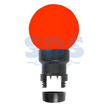 Лампа шар 6 LED для белт-лайта, цвет: Красный, O45мм, Красная колба ozcan лампа timon 60 красная