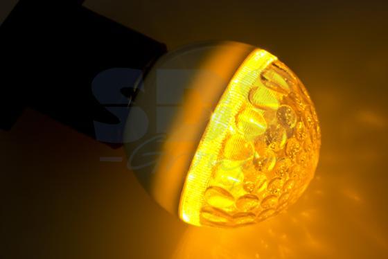 Лампа светодиодная шар NEON-NIGHT 405-211 E27 3W 9 LED, O50мм желтая