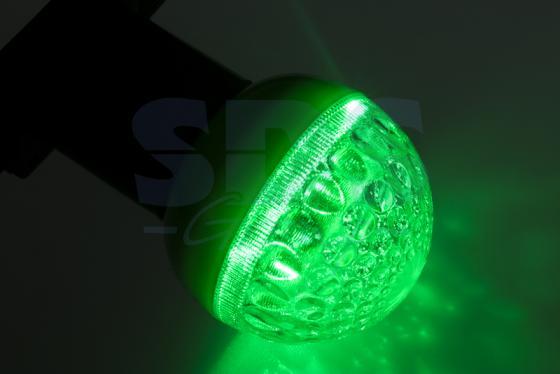 Лампа светодиодная шар NEON-NIGHT 405-214 E27 3W 9 LED, O50мм зеленая