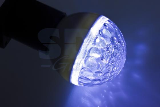 Лампа светодиодная шар NEON-NIGHT 405-213 E27 3W 9 LED, O50мм синяя