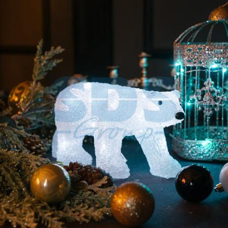 Акриловая светодиодная фигура Медведь 34,5х12х17 см, 4,5 В, 3 батарейки AA (не входят в комплект), 24 светодиода, NEON-NIGHT фигура акриловая светодиодная neon night мухомор 120 led с понижающим трансформатором 35 х 35 см