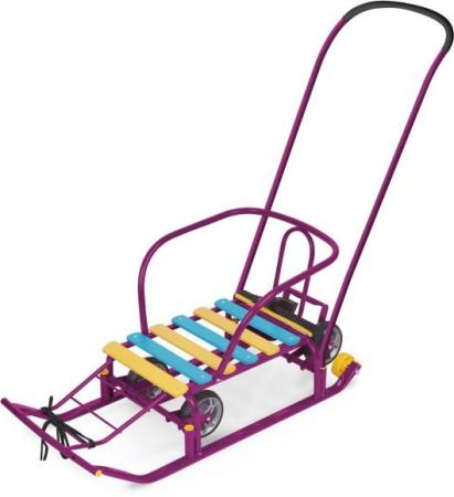 Санки Тимка 5 УНИВЕРСАЛ сиреневый ника санки коляска ника тимка люкс лаванда