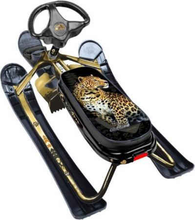 Снегокат Ника-кросс с рис. Леопарда (золотой каркас) ника 1052 0 19 21