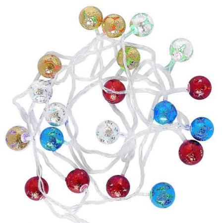 Гирлянда Шарики 20 LED, длина 4,9м, 1 реж свечения (горят постоянно) гирлянда koopman international шарики пастель 1 9m ax5100120