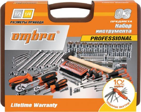 Набор инструментов OMBRA OMT93S18 юбилейная серия универсальный 1/4 1/2dr 93предмета ключ динамометрический ombra a90013 1 2dr 42 210 nm 55159