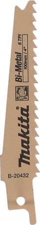 цена на Полотно для саб. пилы MAKITA B-20432 дерево с гвоздями, 100мм, шаг 4.3мм, BiM, для JR100D,JR102D, 5