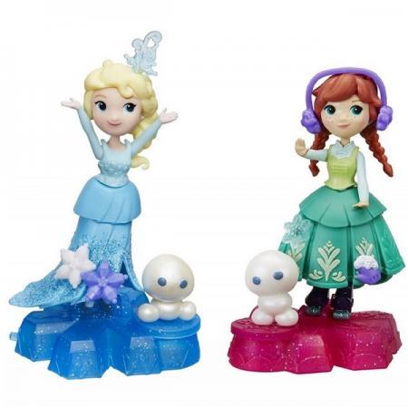 Игрушка Hasbro Disney Princess маленькая кукла Холодное Сердце на платформе-снежинке