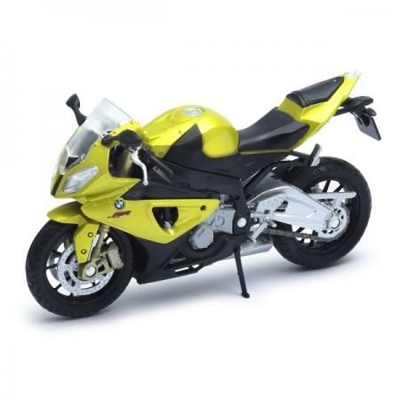 Мотоцикл Welly BMW S1000RR желтый 12810P welly