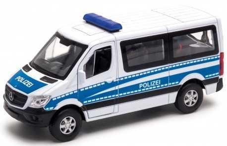 Полиция Welly Mercedes-Benz Sprinter 1:50 синий 43731P игрушка welly mercedes benz glk 43684