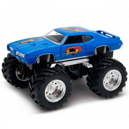 Автомобиль Welly Pontiac GTO Wheel Monster 1:34-39 синий 47008S