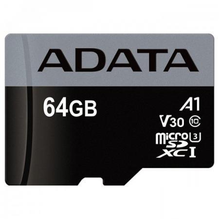 Карта памяти 64GB ADATA Premier Pro microSDXC UHS-I U3 A1 Class 10(V30S) 100MB/60MB/s цена 2017
