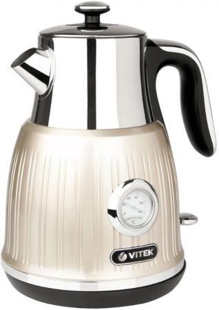 Чайник Vitek VT-7067 MC чайник электрический vitek vt 7067 mc 2150 вт серебристый бежевый 1 6 л нержавеющая сталь