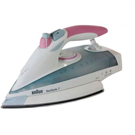 Утюг Braun TS755EA 2400Вт белый/розовый утюг braun texstyle7 ts725a 2400вт белый