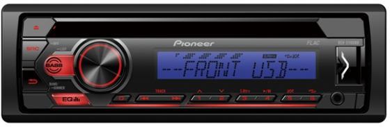 Автомагнитола CD Pioneer DEH-S110UBB 1DIN 4x50Вт автомагнитола cd pioneer deh 9450ub 1din