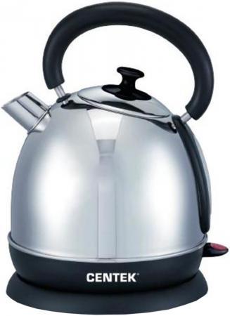 купить Чайник Centek CT-1078 2200 Вт серебристый чёрный 2 л нержавеющая сталь по цене 960 рублей