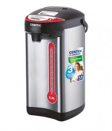 Термопот Centek CT-0082 Black 750 Вт чёрный серебристый 5 л металл