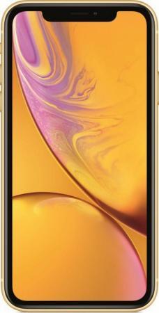 Смартфон Apple iPhone XR жёлтый 6.1 64 Гб NFC LTE Wi-Fi GPS 3G MRY72RU/A смартфон nokia 8 стальной 5 3 64 гб lte nfc wi fi gps 3g 11nb1s01a09
