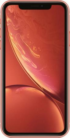 Смартфон Apple iPhone XR коралловый 6.1 128 Гб NFC LTE Wi-Fi GPS 3G смартфон asus zenfone max pro zb602kl черный 6 32 гб nfc lte wi fi gps 3g 90ax00t1 m00050