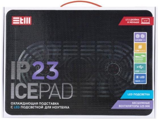 "все цены на STM Laptop Cooling IP23 Black (17,3"""", 2x(125x125), plastic+metal mesh)"