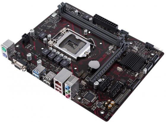 Материнская плата ASUS EX-H110M-V Socket 1151 H110 2xDDR4 1xPCI-E 16x 2xPCI-E 1x 4 mATX used asus ex b150m v3 original new desktop motherboard b150 socket lga 1151 i7 i5 i3 ddr3 32g sata3 micro atx