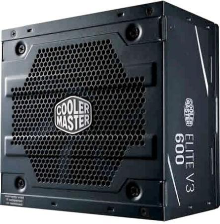Power Supply Cooler Master Elite V3 600, 600W, ATX, 120mm, 3xSATA, 1xPCI-E(6+2), APFC