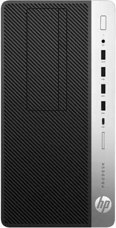 HP ProDesk 600 G4 MT Core i3-8100 3.6GHz,8Gb DDR4-2666(1),1Tb 7200,DVDRW,USB kbd+mouse,VGA,3y,Win10Pro hp prodesk 400 g4 mini core i3 8100t 8gb 256gb m 2 usbkbd mouse stand vga port win10pro 64 bit 1 1 1wty repl 1ex83ea