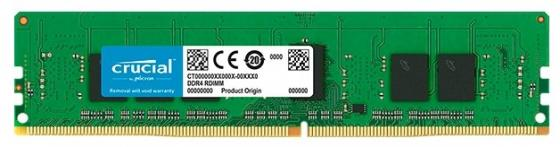 лучшая цена Оперативная память 4Gb (1x4Gb) PC4-21300 2666MHz DDR4 DIMM ECC Registered CL19 Crucial CT4G4RFS8266