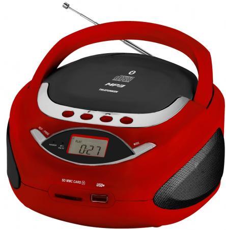 Аудиомагнитола Telefunken TF-CSRP3494B красный 2Вт/CD/CDRW/MP3/FM(an)/USB/BT/SD/MMC maiwo ks09 multi functional usb 2 0 tf sd mmc card reader for otg enabled devices white
