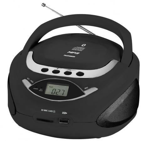 Аудиомагнитола Telefunken TF-CSRP3494B черный 2Вт/CD/CDRW/MP3/FM(an)/USB/BT/SD/MMC радиомагнитола cd telefunken tf csrp3494b red
