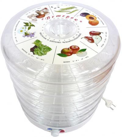 Сушилка д/овощей и фруктов Ветерок ЭСОФ-0,5/220-01 (5 прозр. реш. цветн. упак.)