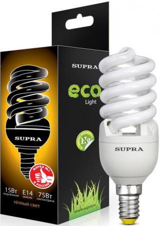 Лампа люминесцентная Supra SL-S-FSP-15/2700/E14-N