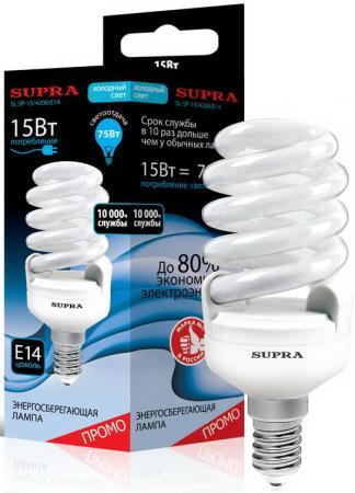 Лампа люминесцентная Supra SL-SP-15/4200/E14 телефон supra stl 111 белый