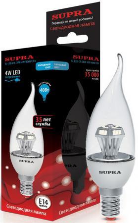 Лампа светодиодная Supra SL-LED-CNW-4W/4000/E14 цена