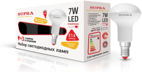 Набор светодиодных ламп Supra SL-LED-PR-R50-7W/3000/E14-set цена
