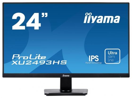 Монитор Iiyama 23.8 ProLite XU2493HS-B1 черный IPS LED 4ms 16:9 HDMI M/M матовая 5000000:1 250cd 178гр/178гр 1920x1080 D-Sub DisplayPort FHD USB 3.6кг монитор iiyama xu2493hs b1
