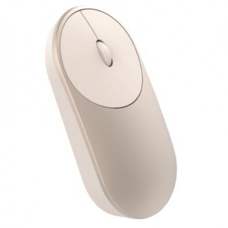 лучшая цена Мышь Xiaomi Mi Portable Mouse золотистый оптическая (1200dpi) беспроводная BT для ноутбука (2but)