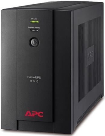 Источник бесперебойного питания APC Back-UPS BX950U-GR 480Вт 950ВА черный источник бесперебойного питания apc back ups pro br550gi