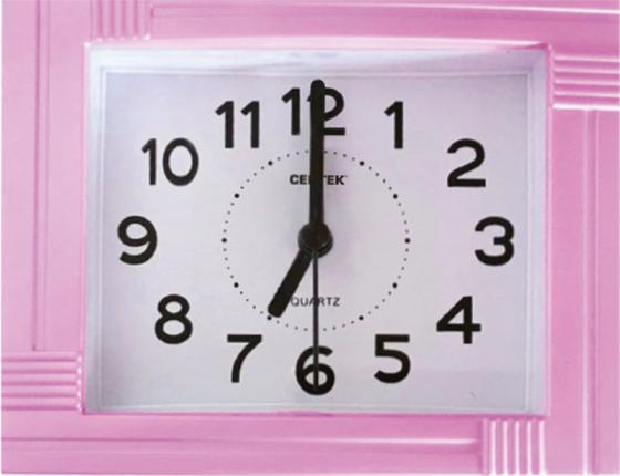 Будильник Centek СТ-7201 розовый