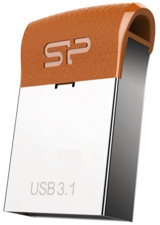 Флеш Диск Silicon Power 32Gb J35 SP032GBUF3J35V1E USB3.1 серебристый/коричневый флеш диск silicon power 64gb touch 810 красный sp064gbuf2810v1r