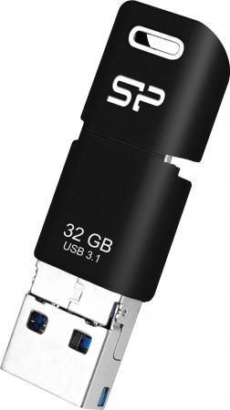 Фото - Флеш Диск Silicon Power 32Gb Mobile C50 SP032GBUC3C50V1K USB3.1 серебристый/черный флеш диск silicon power 16gb jewel j01 sp016gbuf3j01v1r usb3 1 серебристый красный