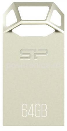 Флеш Диск Silicon Power 64Gb Touch T50 SP064GBUF2T50V1C USB2.0 серебристый флеш диск silicon power 8gb touch 835 серый sp008gbuf2835v1t