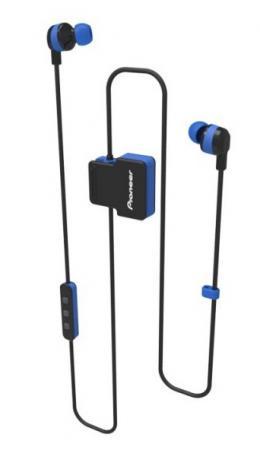 Гарнитура вкладыши Pioneer SE-CL5BT-L синий беспроводные bluetooth (шейный обод) pioneer se cl5bt h grey