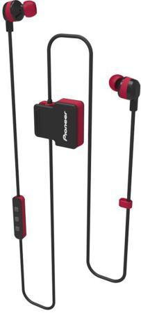 Гарнитура вкладыши Pioneer SE-CL5BT-R красный беспроводные bluetooth (шейный обод) pioneer se cl5bt h grey